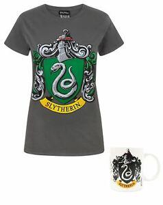 Harry-Potter-Slytherin-Crest-Women-039-s-T-Shirt-and-Mug-Gift-Set-Bundle