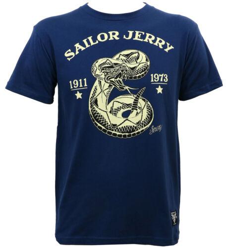 SAILOR JERRY Tattoo Rattler Navy Slim Fit T-Shirt S M L XL XXL NEW