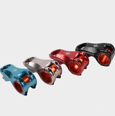 0° KRSEC Alu 31.8*50mm MTB XC FR DH Bike Short Flat Stem+Headsets Top Cap set