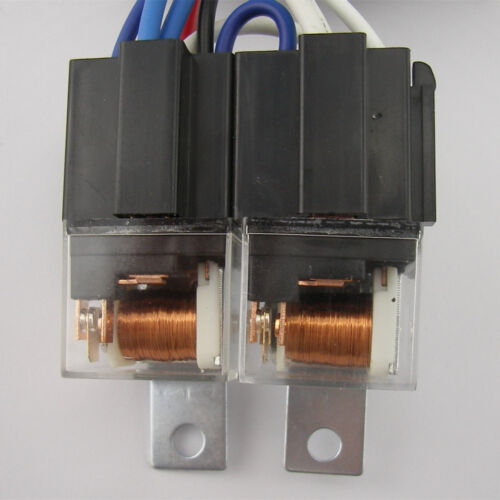 """Pair 7x6/"""" inch 15 LED H6054 Headlights /& Relay Harness High//Low Beam 6000K 45W"""