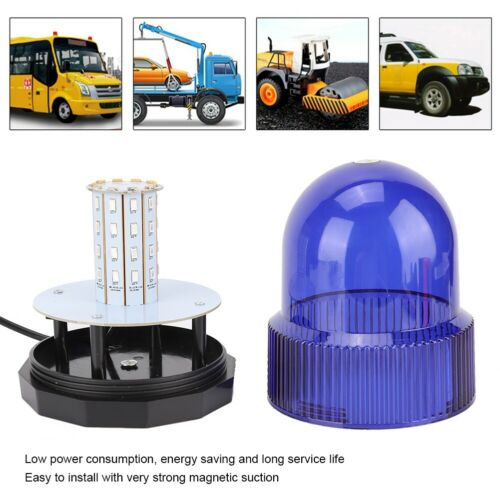 40LED Blue Car Roof Light Emergency LED Warning Flashing Strobe Light Magnetic