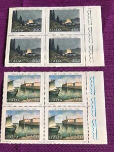 ITALIA-1981-QUARTINA-ARTE-ITALIANA-MNH-LUSSO