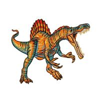 Spinosaurus Dinosaur Patch Jurassic Carnivore Kid Craft Apparel Iron-on Applique