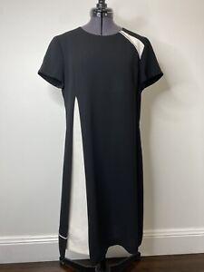 Cue Black & White Shift Dress Size 10 EUC