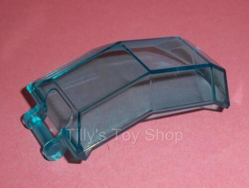 NEW Handle / Hinge Cockpit Lego 4x4x4 2/3 Clear Blue Windscreen ID 11289