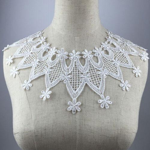 Stoff Spitze Kragen Ausschnitt Blumen Polyester Handwerk Für wählen Nette NEU