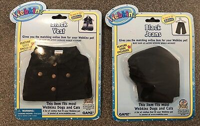 BLACK VEST Webkinz Clothing New Clothes w//Unused Code