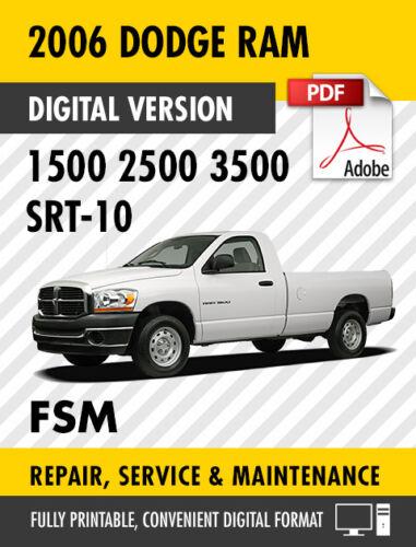 research.unir.net 2006 Dodge Ram Trucks 1500 2500 3500 SRT-10 ...