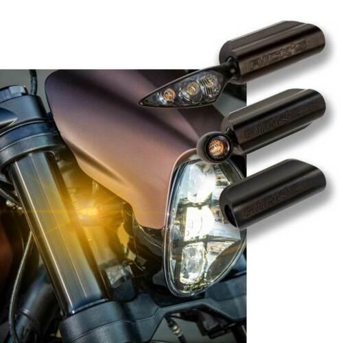 Rick Harley-Davidson Clignotant Support avant fxdr noir avec Kellermann Atto