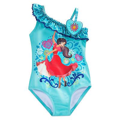 Girls 4,5//6,7//8,9//10 NWT Disney Store Elena Swimsuit Elena of Avalor 1pc UPF 50