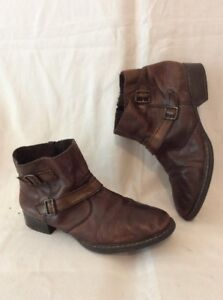 Size Brown 41 Ankle Rieker Leather Boots wZqBxfH