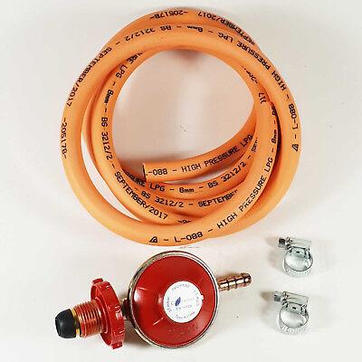 Cooker Propane Regulator Gas Hose Kit Hand Wheel Stove Set BBQ 2M Hose Kit