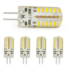 5X G4 5W LED AC DC12V Silicone Crystal Light Lamp Bulb Cool White Replace Haloge