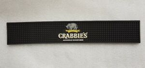 CRABBIES GINGER BEER Rubber Bar Runner - Drip Mat - NEW - Home Bar - Pub 8SH2h2vM-09101057-395649229