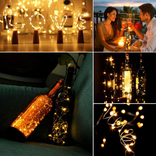 10//20 LED Bottle  Fairy  String Operated Battery Shaped