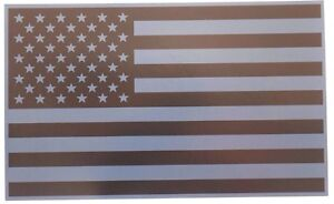 "FOUR REFLECTIVE SUBDUED AMERICAN FLAG FIRE EMS HELMET DECALS 2/"" x 1.25/"""