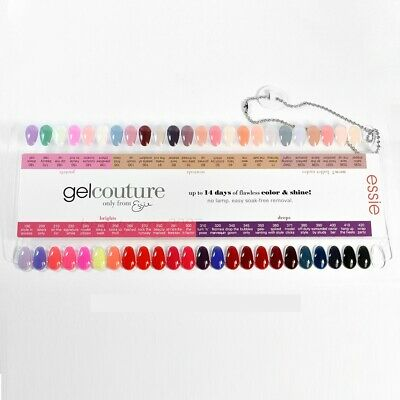 Essie Gel Couture Nail Polish Color Sample Chart Palette Display Ebay