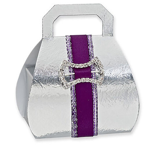 HANDBAG FAVOUR BOXES - CLUB GREEN 10 PER PACK FREE POSTAGE