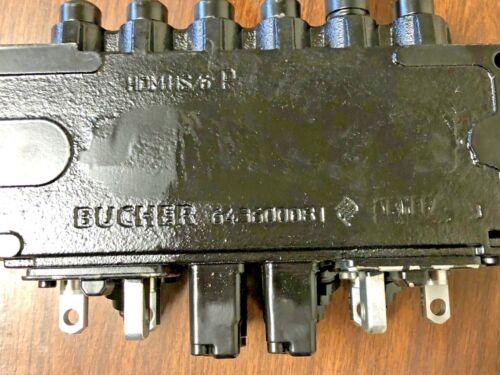 Bucher Hidráulico 6 Carrete 45 LPM monobloque Válvula De Control Direccional HDM11S//6 P