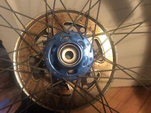Schwinn-King-Sting-10-Rear-Wheel-Complete-Blue-Ukai-Suzue-Suntour-sans-axle