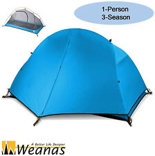 Weanas Single 3 Season Waterproof Portable Double layer Tent  Hiking Camping