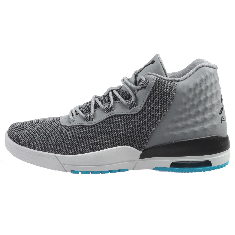 Jordan Academy Mens 844515-015 Cool Grey Blue Lagoon Basketball Shoes Size 8