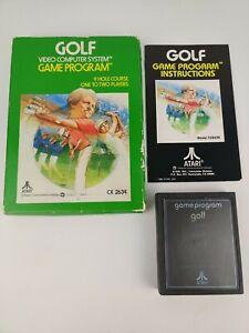 Vintage Golf Atari 2600 Game 1980 CX2634 CIB box manual game