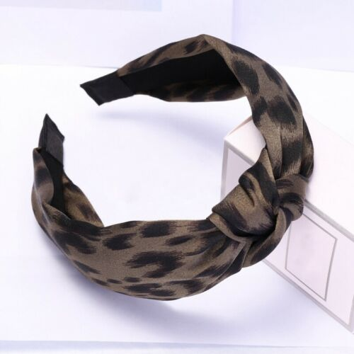 Girls Headbands Twist Knot Leopard Pattern Head Wrap Turban Hair Accessories