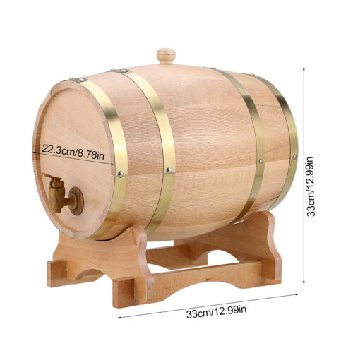 1.5//3//5//10 L Holzfass Fass Regentonne Weinfass Eichenfass Wasserfass Wassertonne