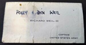 Business card Richard 'Dick' Weil US Army Hanau Germany Civ 27540