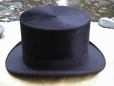 Superb Antique Continental Black Silk Top Hat Sz 7¼