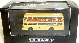 Büssing D2U Doppeldecker Bus Berlin 1957 Schultheiss Minichamps 1:160 OVP KUL µ