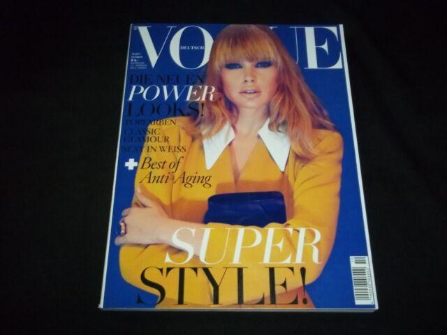 2011 OCTOBER VOGUE DEUTSCH MAGAZINE - DOUTZEN KROES - FRONT COVER - F 3252
