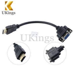 1080P-HDMI-Male-To-VGA-D-SUB-15-Pins-Female-Video-AV-Adapter-Cable-For-PC-HDTV