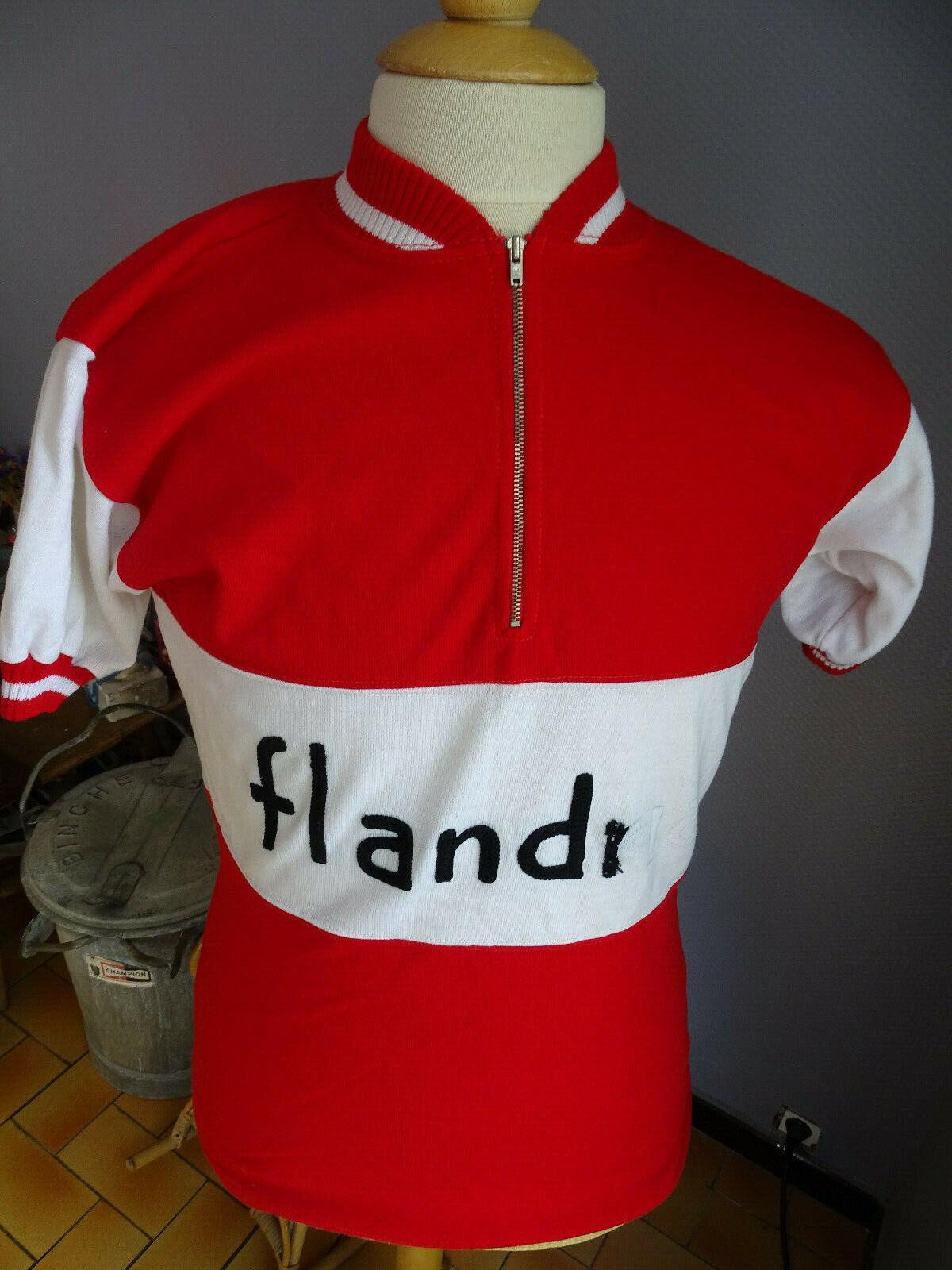 ANCIEN  MAILLOT CYCLISME CYCLISTE FLANDRIA  ANNEES 60-70 MAERTENS CYCLING  el estilo clásico