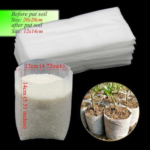 50Pcs 20x20cm Nonwovens Biodegradable Ecofriendly Planting Seedling Nursery Bags