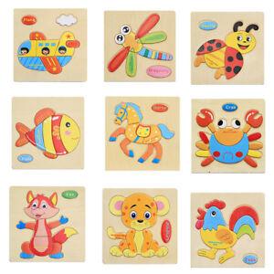 Eg-Multicolore-Puzzle-en-Bois-Animal-Educatif-Developpemental-Bebe-Jouet