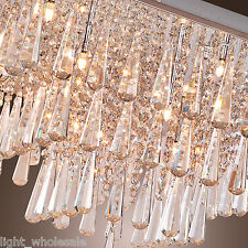 Flush Mount Lamp Living Room Bedroom Crystal Chandelier Modern Ceiling Light