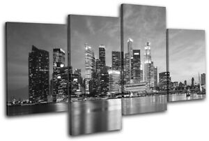 Singapore-Asia-Skyline-Skyscraper-City-MULTI-CANVAS-WALL-ART-Picture-Print
