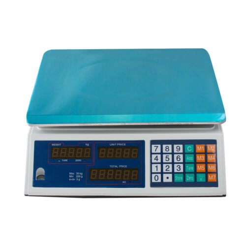 66LBS Digital Scale Price Computing Deli Food Produce Electronic Counting Weight