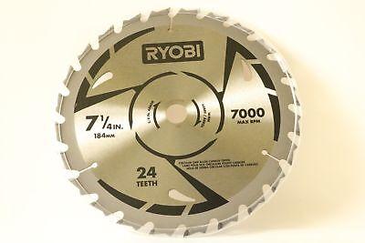 """RYOBI 7-1//4/"""" INCH 24 TEETH CARBIDE-TIPPED CIRCULAR SAW BLADES 16 MM ARBOR NEW"""