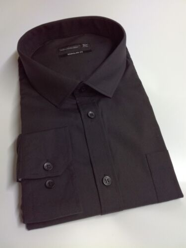 Mens Black Formal Shirt Cedar Wood State With Pocket CLEARENCE