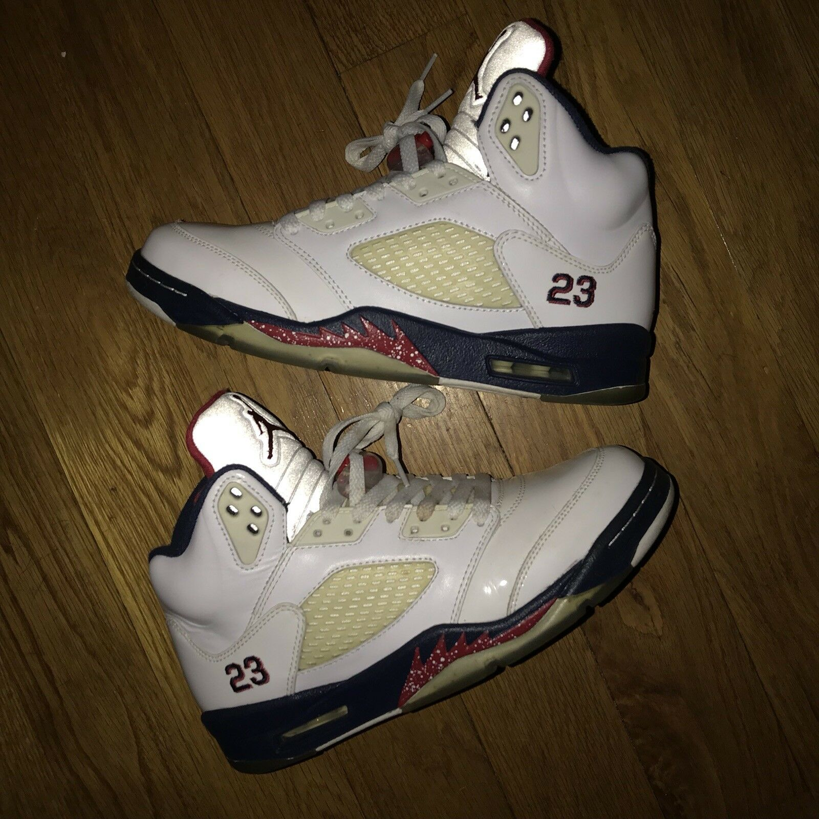 newest 04eac 7857a Nike Jordan 5 Independence Olympic Men Men Men Size 8 W 9.5 rare.yeezy.