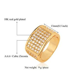 Luxury AAA Cubic Zirconia Ring 18K Yellow Gold Plated Fashion Jewelry - <span itemprop='availableAtOrFrom'>Walldorf, Baden-Württemberg, Deutschland</span> - Luxury AAA Cubic Zirconia Ring 18K Yellow Gold Plated Fashion Jewelry - Walldorf, Baden-Württemberg, Deutschland