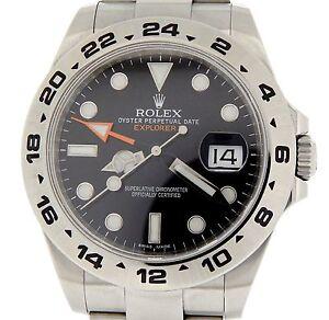 a7a57cfe246 La foto se está cargando Rolex-Explorer-II-Hombre-Reloj-De-Acero-Inoxidable-