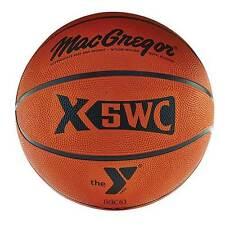 "MacGregor Rubber Basketball With YMCA Logo Intermediate 28.5"""