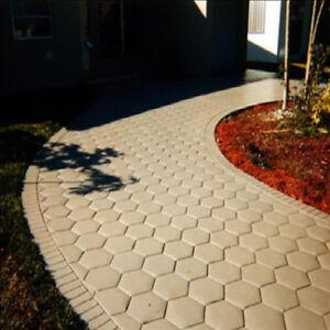 Hexagon Paving Mould Path Pathway Patio Pavers Garden Stones Shaper Template Ebay