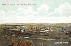 Tulsa-Oklahoma-Birdseye-View-Glen-Pool-Scenic-Antique-Postcard-K15728