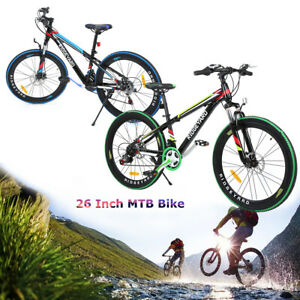 ridgeyard 26 zoll jungen m dchen adult fahrrad 21 gang mountainbike mtb fahrrad ebay. Black Bedroom Furniture Sets. Home Design Ideas