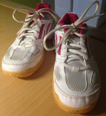 Adidas, Schuhe, Halbschuhe, Hallenschuhe, Turnschuhe, Mädchen, Weiß/Rosa,Gr.33